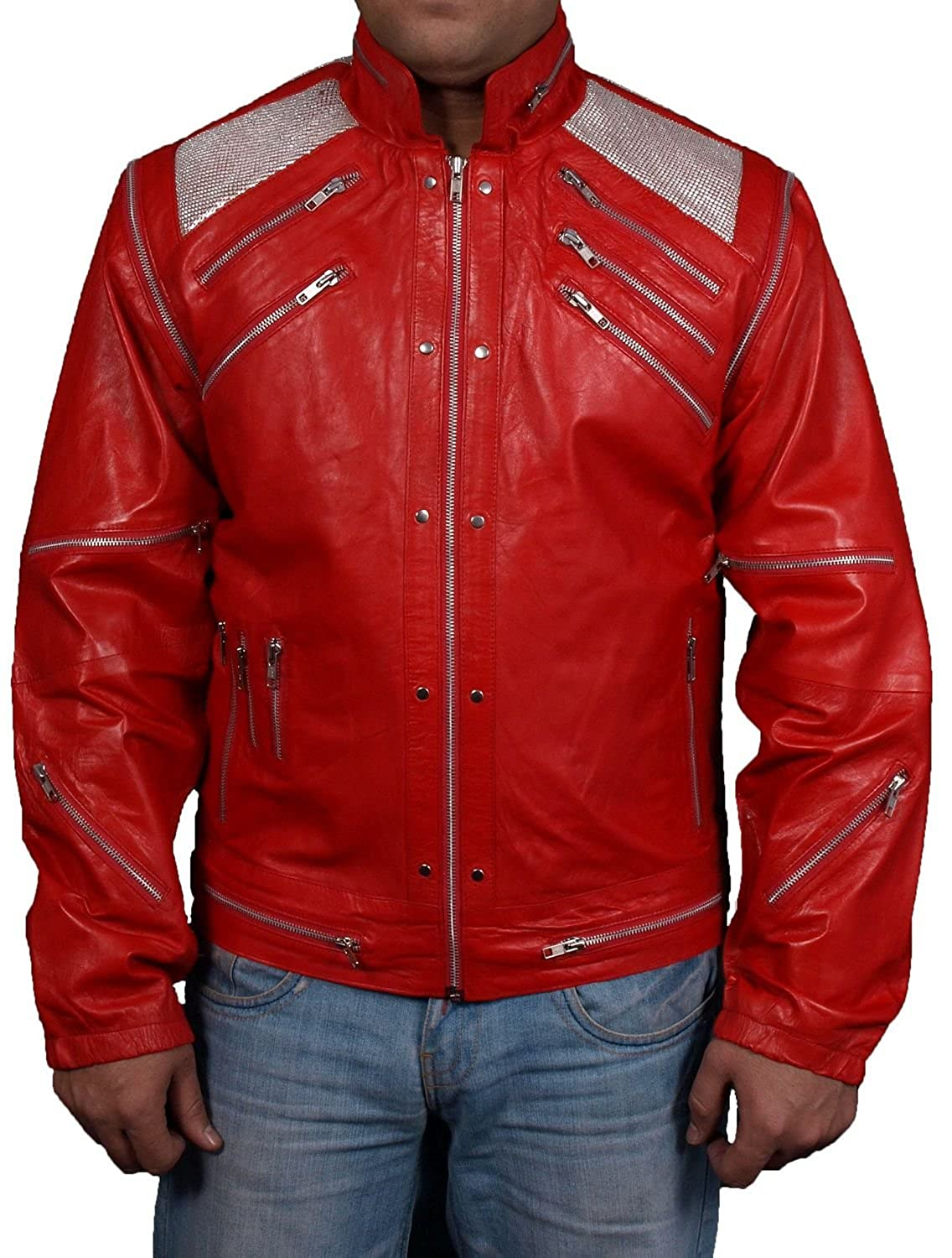 Men's Beat It Sheep Red Leather Jacket