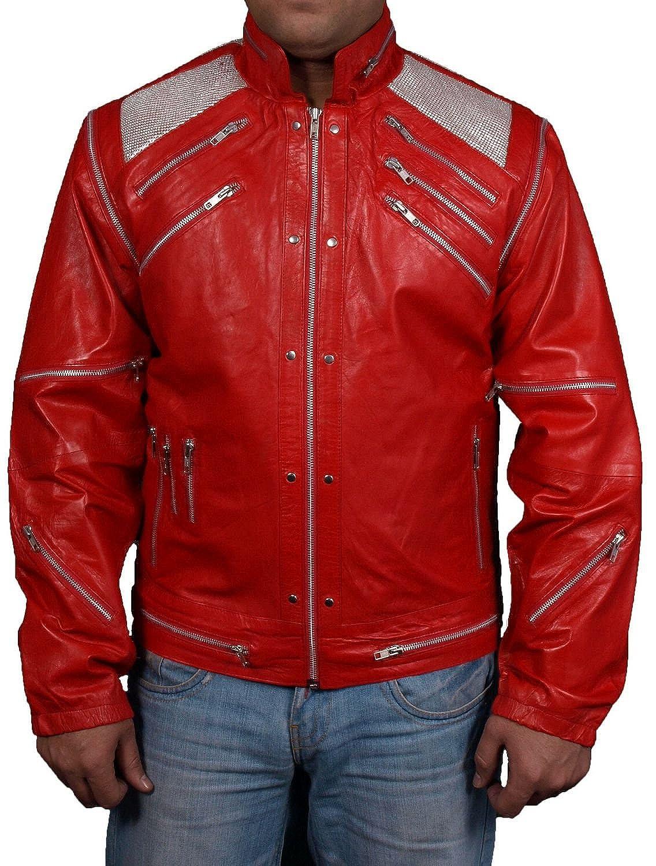 Men's Beat It Sheep Red Leather Jacket online kaufen