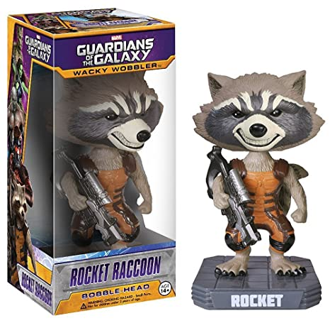 Funko - Fu3962 - Figurine Cinéma - Wacky Wobbler - Guardians Of The Galaxy - Rocket Racoon