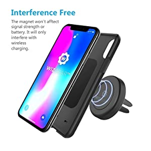 Magnetic Mount, WizGear [NEW 2 PACK] Universal Air Vent Magnetic Car Mount Phone Holder, for Cell Phones and Mini Tablets with Fast Swift-Snap Technology, - With 4 Metal Plates