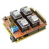 SODIAL(R) CNC V3 Shield + UNO R3 Arduino Compatible Board + 4x TI DRV8825 StepStick Stepper Drivers Red+purple (Color: Red+purple)