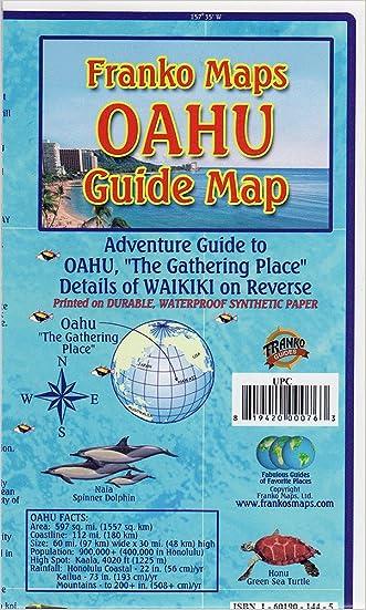 Oahu Hawaii Adventure Guide Franko Maps Waterproof Map