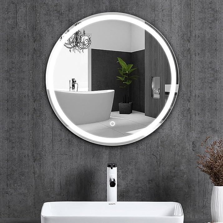 ZI LING SHOP- Semplice specchio specchio della parete dello specchio della parete senza specchio dello specchio della stanza da bagno dello specchio della stanza da bagno dello specchio (60cm) Mirror