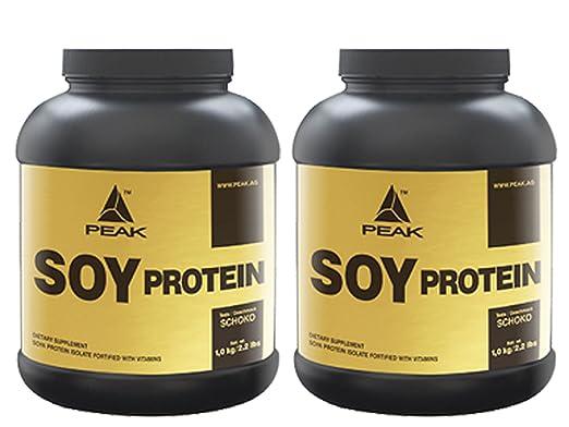 Peak Soy Protein Isolat 2 x 1000 g Geschmack Schoko