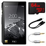 FiiO X5-III High Resolution Lossless Music Player (Black) w/ 64GB Bundle Includes, 64GB MicroSDXC High-Speed Memory Card, Professional 3.5mm-to-3.5mm Audio Cable & 6 3.5mm Splitter Stereo Plug