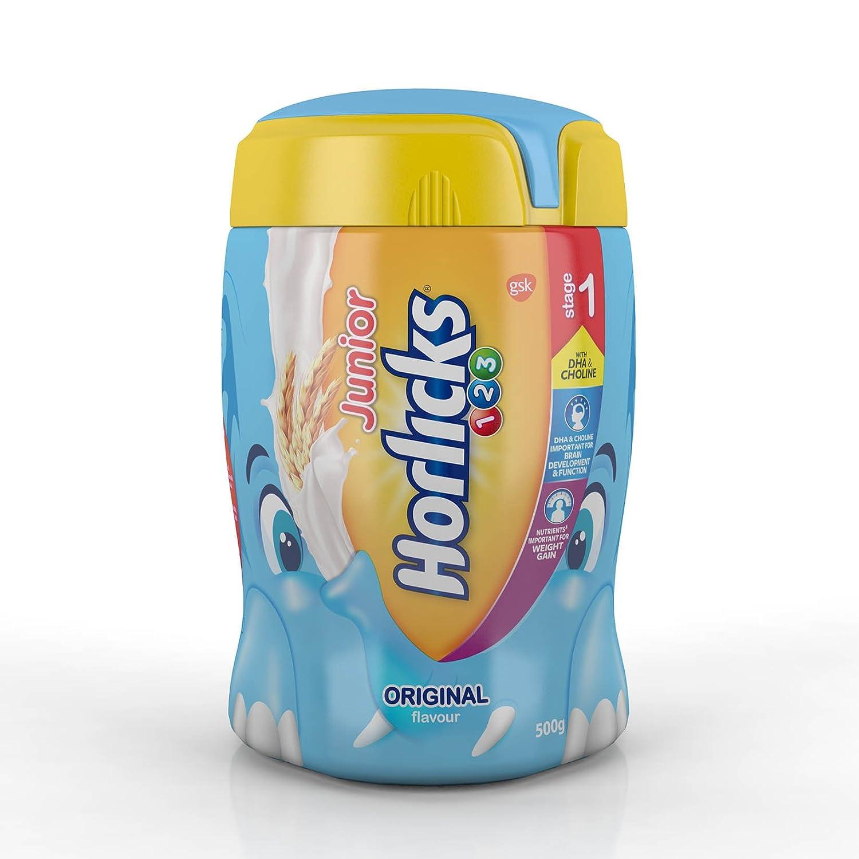 Junior Horlicks Stage 1 (2-3 years) Health & Nutrition drink - 500 g Pet Jar (Original flavor) By Amazon @ Rs.252