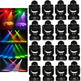 Eshine 10W MINI LED Spot Moving Head Light Black for Wedding Christmas Birthday DJ Disco KTV Bar Event Party Show (16PCS 10W Spot Moving Head Light)