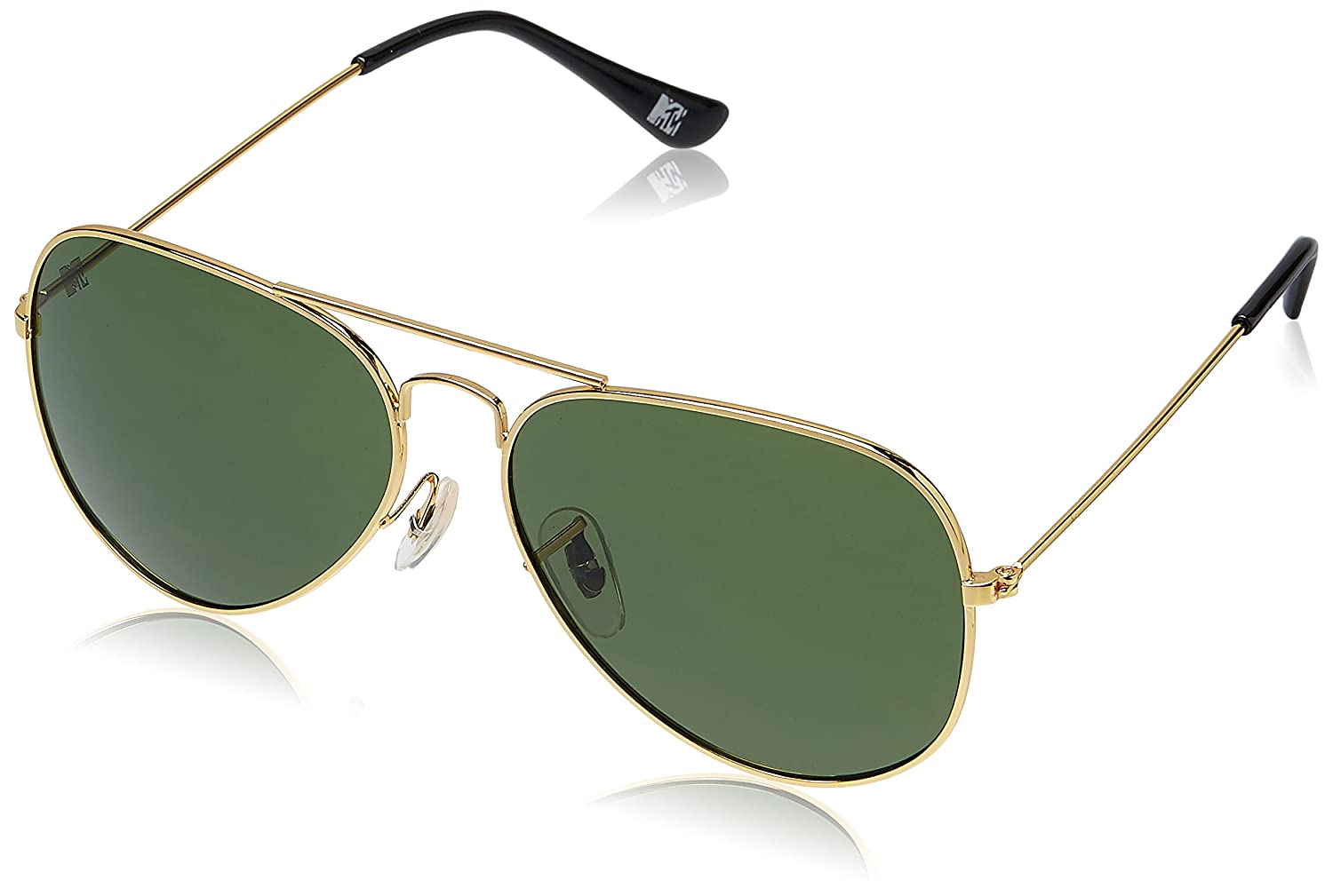 40-80% Off On Men's Fashion By Amazon | MTV Aviator Sunglass (Golden) (MTV-123|C9 58) @ Rs.799