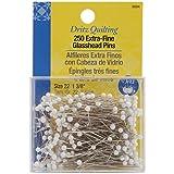 Dritz 250 Piece Quilting Extra Fine Glass Head Pins