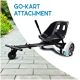 Hover-1 Buggy Attachment for Electric Scooter, Transform Your Hoverboard into Go-Kart (Color: Black, Tamaño: 24