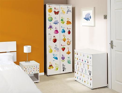 Alphabet Design Childrens/Kids White Bedroom Furniture Sets