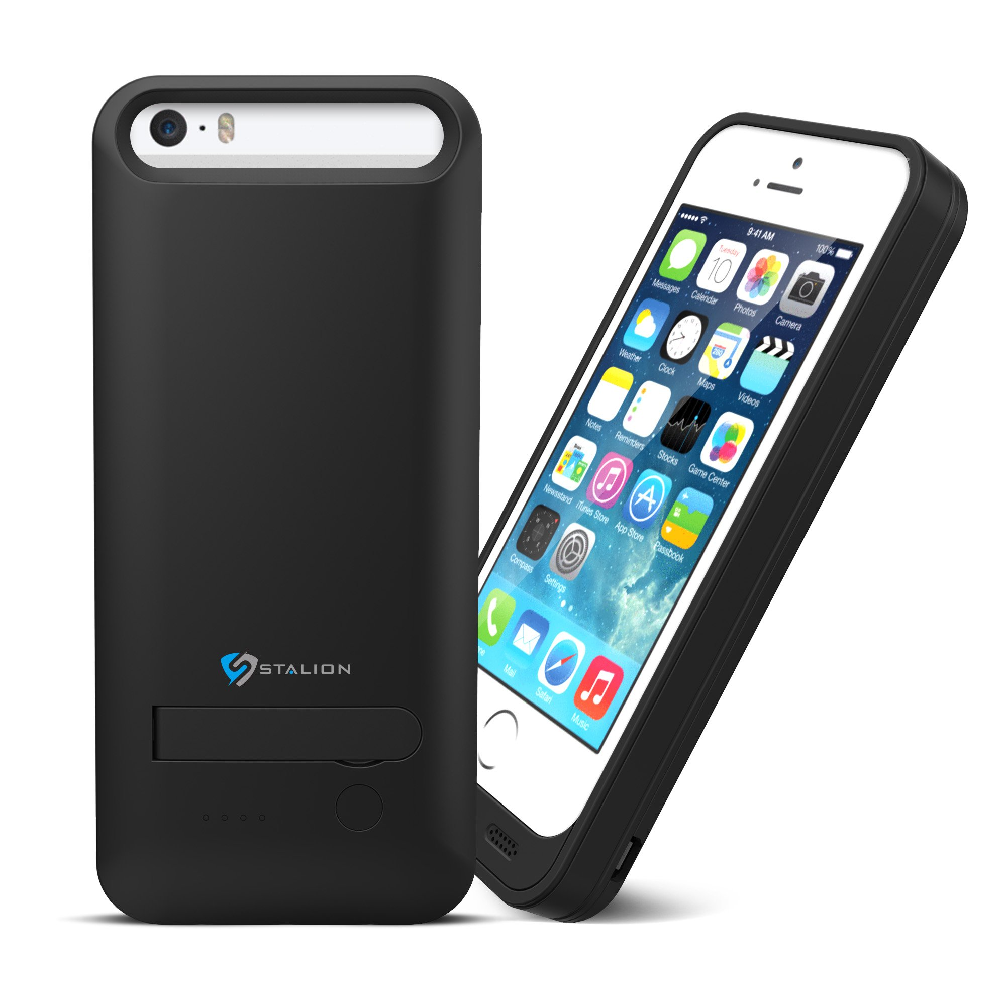 iphone 5 5s battery case stalion stamina rechargeable extended charging c ebay. Black Bedroom Furniture Sets. Home Design Ideas