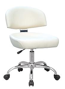 SixBros. Design Rollhocker Arbeitshocker Hocker Bürostuhl Weiß  M95062/633    Bewertungen und Beschreibung