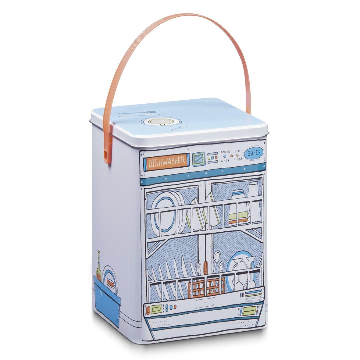 Zeller 19201 Dishwasher - Lata para guardar pastillas de lavavajillas (metal, 15 x 15 x 20,8 cm), diseño de lavavajillas   más información y comentarios