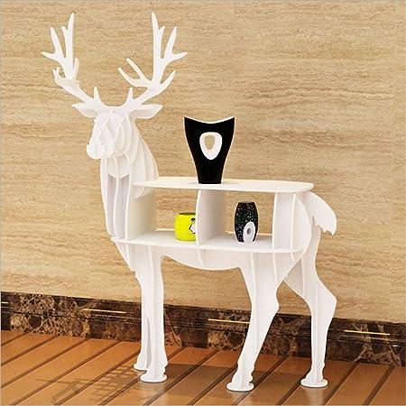 WSZYD estantería estantería alces animales creativo moldea tienda de decoración de ventana del piso vestidor ( Color : Blanco , tamaño : Turn around )