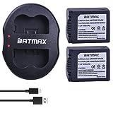 Batmax 2Packs CGA-S006 DMW-BMA7 Battery + Dual USB Charger for Panasonic Lumix DMC-FZ7 DMC-FZ8 DMC-FZ18 DMC-FZ28 DMC-FZ30 DMC-FZ35 DMC-FZ38 DMC-FZ50 Digital Cameras