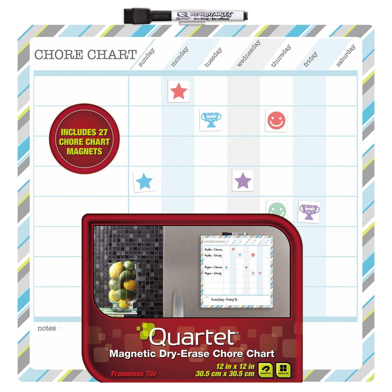 Quartet Magnetic Dry-Erase Children's Chore Chart