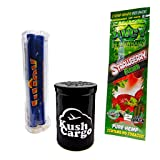 Bundle 3 Items - Juicy Jays Hemp Wraps Strawberry Fields All Natural with Roller Machine (6 Packs) (Tamaño: 6 Packs)