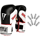 TITLE Gel Power Weighted Super Bag Gloves, Large (Color: Black/White, Tamaño: Large)