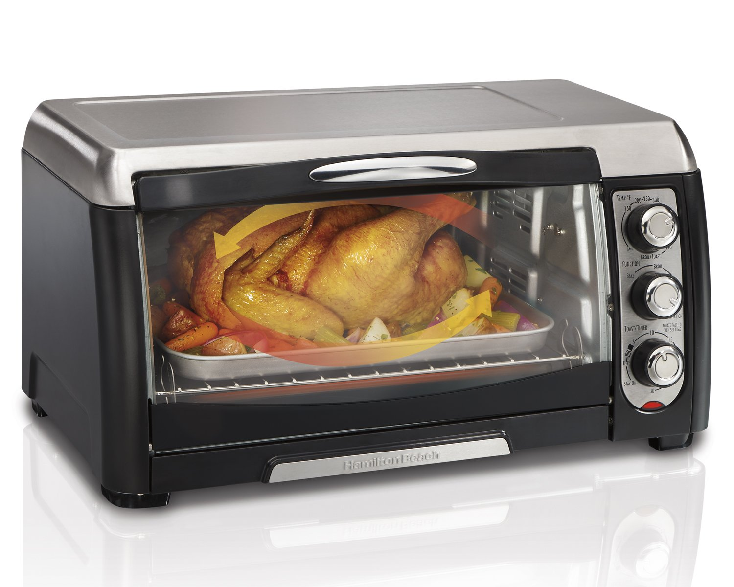hamilton beach 31331 convection toaster oven new free shipping ebay. Black Bedroom Furniture Sets. Home Design Ideas