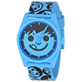 Neff Men's NF0202-cyan s band Custom Designed Neff and PU Strap cyan Watch