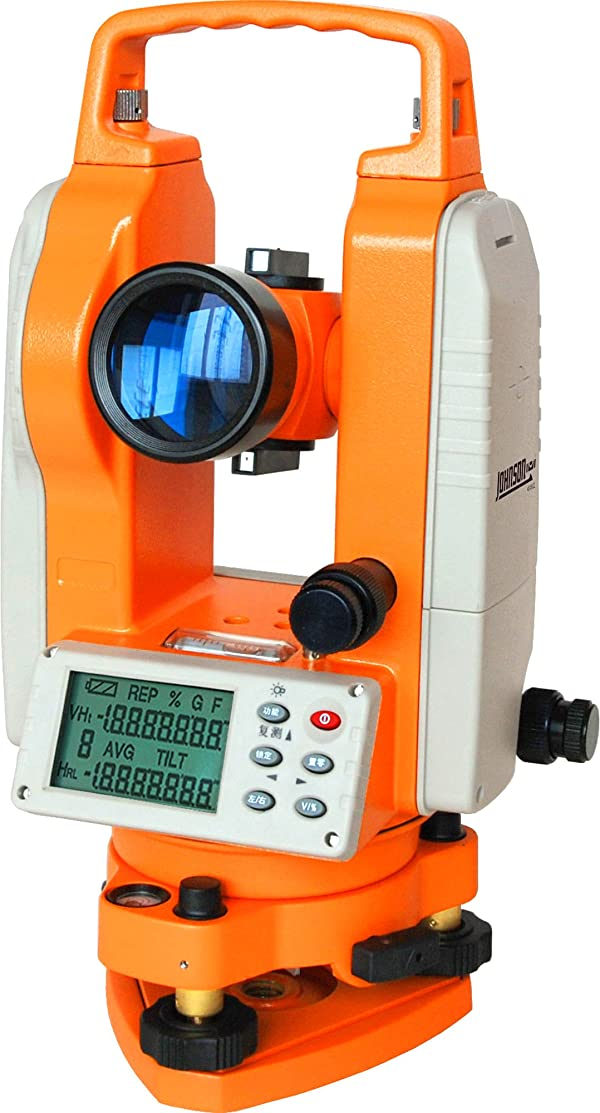 Johnson Level 40-6932 Two Second Theodolite, Orange (Color: Orange, Tamaño: 6.29-Inch x 5.9-Inch x 12.99-Inch)