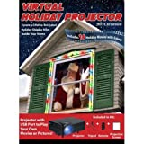 Wonderland Window Virtual Holiday Movie Projector 14 Holiday Movies Your own (Color: Multicolor)