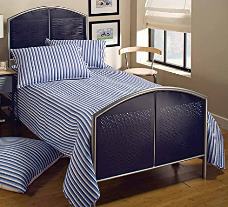 Hillsdale Furniture 1177BFR Universal Mesh Bed Set with Rails, Full, Silver/Navy