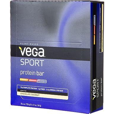 Vega Sport Proteinriegel Schokolade-Kokosnuss je 60 g 12 Riegel