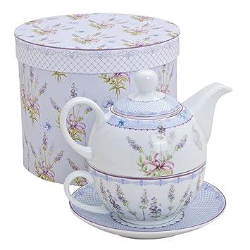 tea for one set teekanne porzellan teeset teeservice lavendel dekor us18. Black Bedroom Furniture Sets. Home Design Ideas
