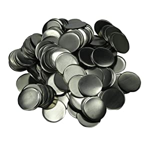 DAWEI 200Pcs 2 & 50mm Top/Metal-Bottom Cover Clip Pin Blank Badge & Button Parts for Badge Maker Machine (Tamaño: f2(50mm))