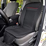 BDK SCX102 CoolFlow Massage - Cooling Car Seat Cushion with Built-in Fan Circulation for Maximum Breathable Refreshing Air Flow & Vibrating Massage