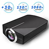 Led Projector, Vamvo 2200Lux Home Theater Movie Projector LED Source Video Projector Supported 1080P Portable Projector Compatible with Fire TV Stick,HDMI/VGA/USB/SD 2018 New Version (Black) (Color: black)
