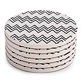 Lifver 6-Piece Absorbent Stone Coaster set,