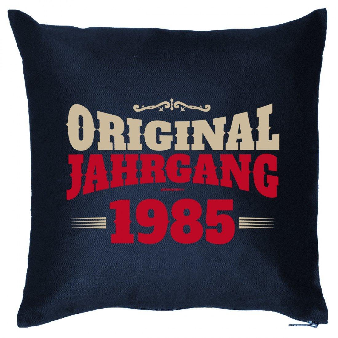 Cooles Couch Kissen mit Jahrgang zum Geburtstag – Original Jahrgang 1985 – Sofakissen Wendekissen mit Spruch und Humor online bestellen