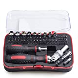 61 in 1 Precision Ratcheting Screwdriver Set Driver Kit, Magnetic Screwdrivers set, Electronics Repair Tool Kits for iPhone, iPad Tablets, MacBook, PC