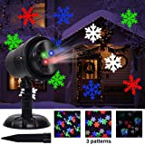 Twinkle Star Christmas Light Projector with 3 Switchable Lenses-Snowflakes/Elf/Fireworks Pattern Multicolor Moving Lights, LED Landscape Spotlight for Indoor Outdoor Holiday Party Xmas Decoration (Color: Multicolor)