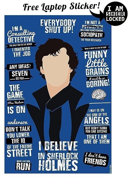 Alter Ego I Believe In Sherlock Holmes – Sherlocked Poster low price