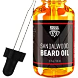 BEARD OIL SANDALWOOD by Rogue Beard Company 100% ORGANIC Beard Oil and Leave In Conditioner 1 oz (Color: Sandalwood)