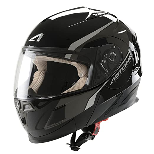 Astone Helmets RT1000GEX-EXBKXS Casque Modulable RT1000 Executive Noir Taille XS