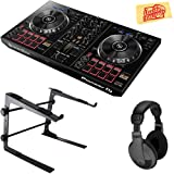 Pioneer DDJ-RB Portable 2-Channel Controller for Rekordbox DJ Bundle with Stand, Headphones, and Austin Bazaar Polishing Cloth, Bundle w/ Stand (Color: Bundle w/ Stand, Tamaño: DDJ-RB)