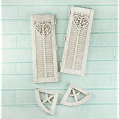 Shabby Chic Resin Treasures-Large Window Closers 4/Pkg 1 To 4