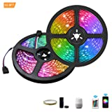 ZHT 32.8ft 10m LED Strip Lights, Waterproof WiFi LED Lights Strip with 300 LEDs SMD 5050 RGB Rope Lights, Sync to Music, 24 Key Remote Control and Work with Alexa/Google Home Kitchen Party (Color: Wifi-5050rgb10m300, Tamaño: 5050RGB10m300)
