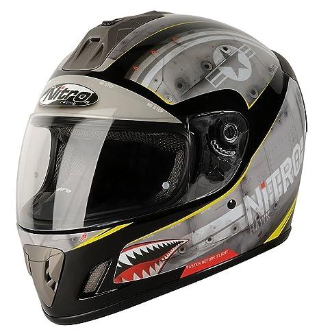 NITRO 108915S11 Casque Moto NGFP Hawk Gris