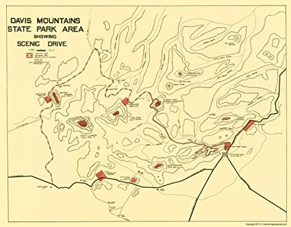 Davis Mountains State Park Map
