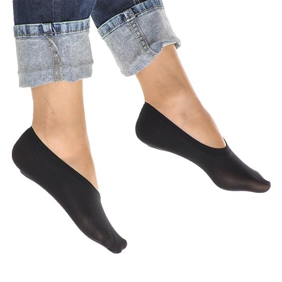Angelina No-Show Nylon Liner Socks 12 Pairs Pack