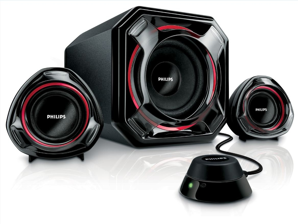 Enceintes multimedia 2.1 PHILIPS SPA5300 NOIR 2.1