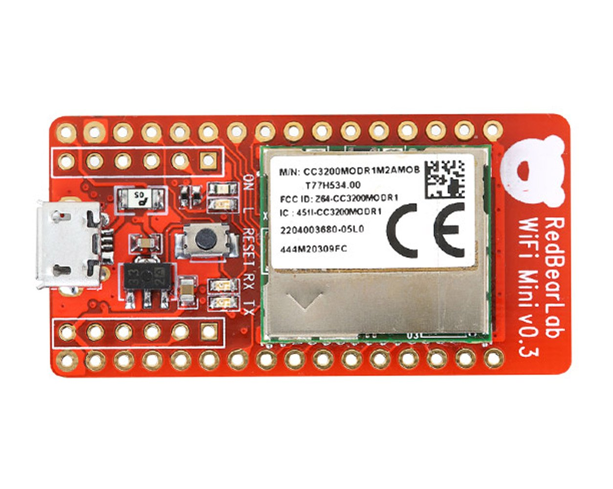 eleduino redbearlab cc3200 wifi mini