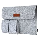 Laptop Sleeve, dodocool 13.3-Inch Felt Sleeve Case Protective Bag with Mouse Pouch for Macbook Pro/Air/Retina 13