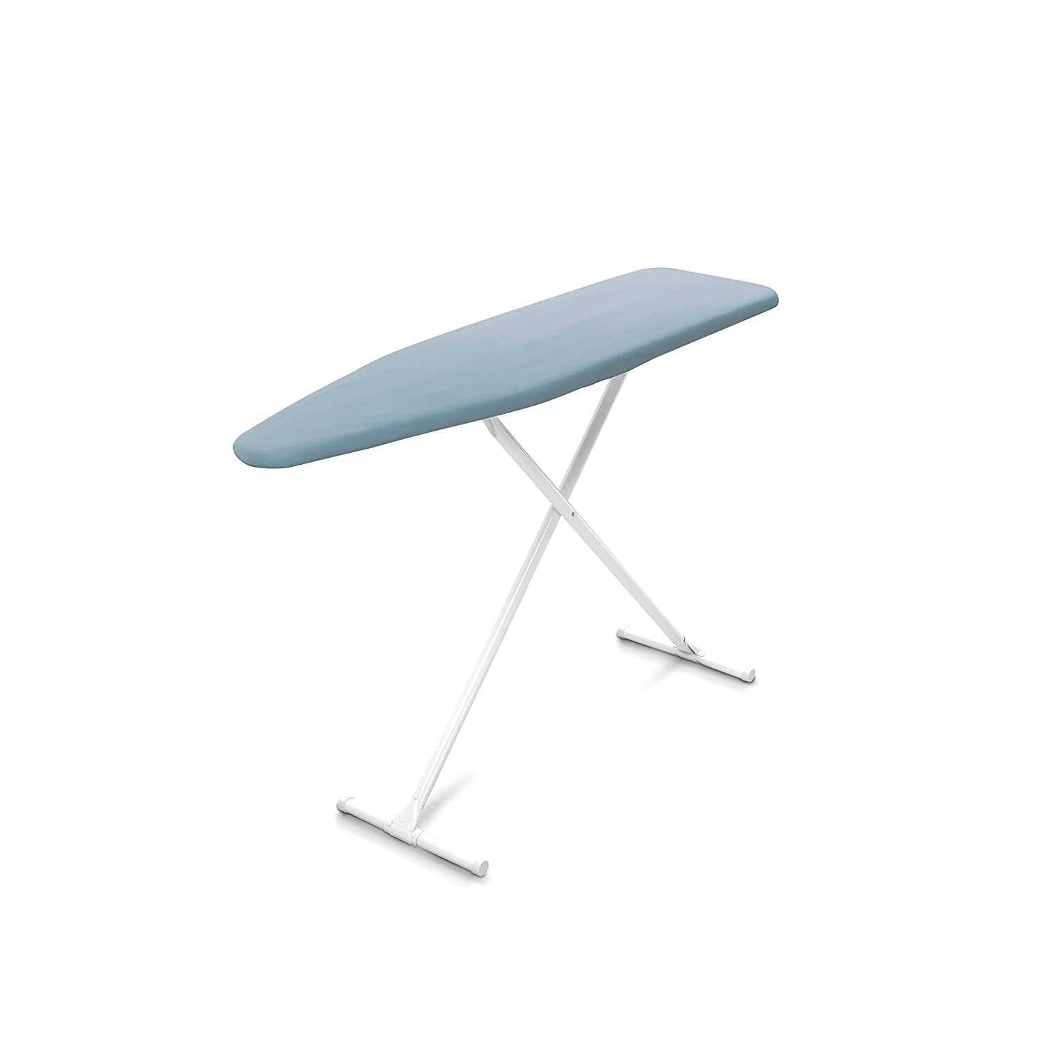 Homz T-Leg Ironing Board, Adjustable Height, Foam Pad with Cotton Cover, Blue